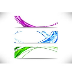 Collection of bright modern backgrounds vector image