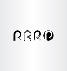 letter r set icon black collection element vector image vector image