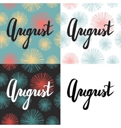 Set of 4 cards with summer quote vector image vector image