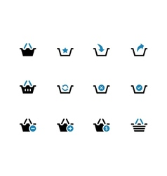 Shopping Basket duotone icons on white background vector image vector image
