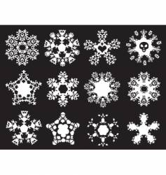 grunge snowflakes vector image vector image