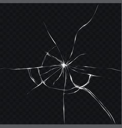 in realistic style of broken vector image