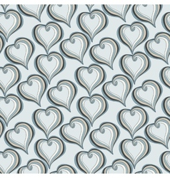 Seamless pattern with Abstract grey Hearts vector image vector image