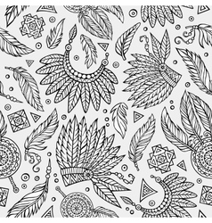 Tribal native ethnic seamless pattern vector image