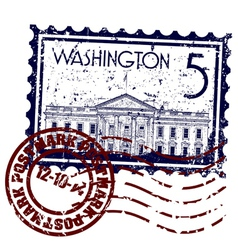 washington icon vector image vector image