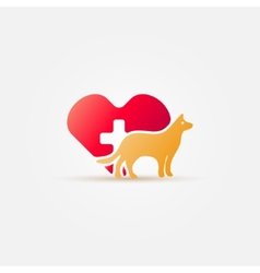 Bright dog vet icon vector image