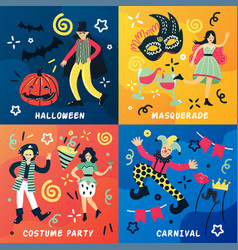 carnival doodle design concept vector image vector image