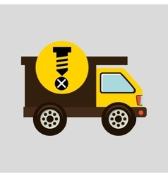 construction gear icon screw fixing vector image