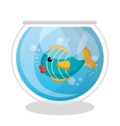 fish mascot in aquarium vector image vector image