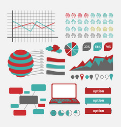 infographics chart vector image vector image