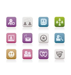 internet community and social network icons vector image
