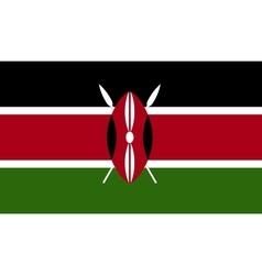 Kenya flag image vector image