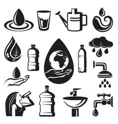 water icons vector image vector image