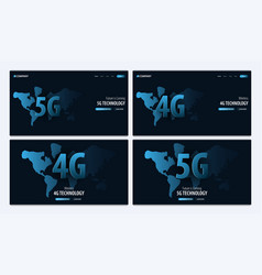 5g and 4g new wireless internet wifi connection vector