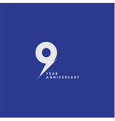 99 years anniversary celebration template design vector