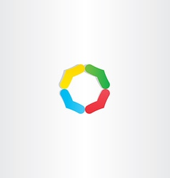 abstract circle colorful logo branding icon vector image