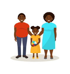 afro american black family in casual clothing vector image