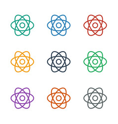 Atom icon white background vector