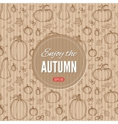 Autumn template vector