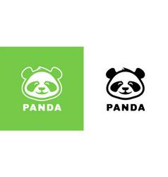 Baby panda logo icon vector