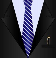 background black suit vector image