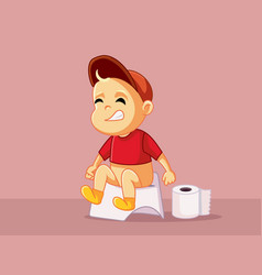 Baon potty cartoon vector