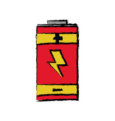 battery energy power charger electric vector image