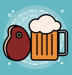 beer jar design vector image