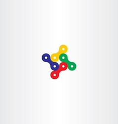 Bicycle chain icon logo element vector