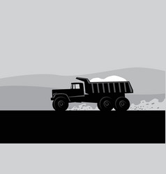 big truck running on road vector image