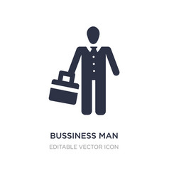 Bussiness man icon on white background simple vector