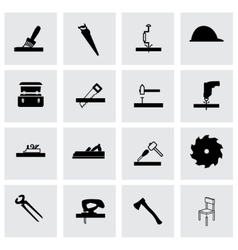 carpentry icon set vector image