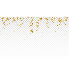 Celebration banner with gold confetti vector