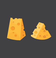 Cheese types modern flat style realistic vector