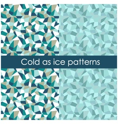 Cold as ice pattern vector image