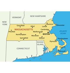 Commonwealth of Massachusetts - map vector