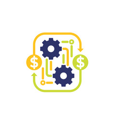 Costs optimization business efficiency icon vector