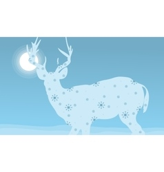 Deer winter Christmas holiday vector