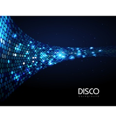 Disco abstract blue neon background vector