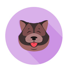 Doggy head of tibetan mastiff close-up funny style vector