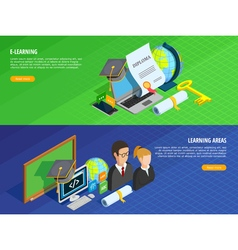 E-learning Banners Set vector