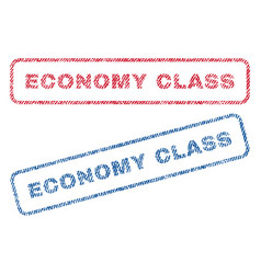 economy class textile stamps vector image