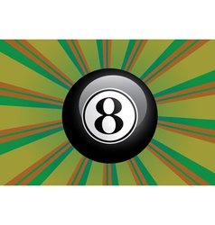 Eight Ball vector image