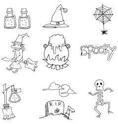 Element Halloween flat doodle vector image