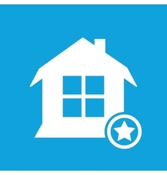 Favorite house icon vector
