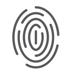 fingerprint line icon scan and thumbprint id vector image