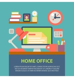 flat design modern home vector image