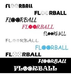 Floorball textl for logo the team and the cup vector