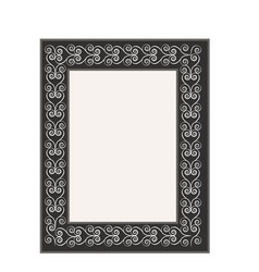 frame with wavy line fashion graphic background vector image