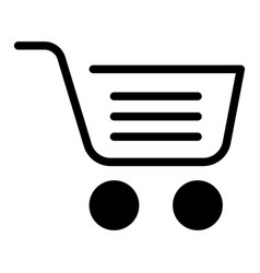 full shopping cart solid icon market basket vector image